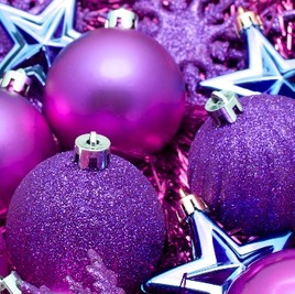 Pink and purple baubles, Christmas Taxi www.wrexhamtaxis.co.uk wrexham and prestige