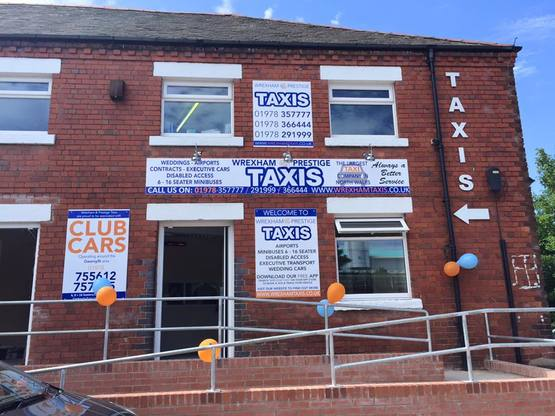 Wrexham and Prestige Taxis Premises, new building, new business, Wrexham. www.wrexhamandprestigetaxis.co.uk new office